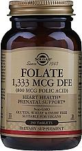"Fragrances, Perfumes, Cosmetics Dietary Supplement ""Folic Acid"", tablets - Solgar Folate 1,333 MCG DFE (800MCG Folic Acid) Tablets"