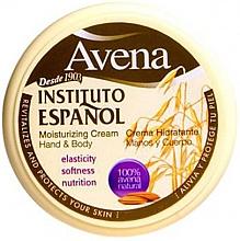Fragrances, Perfumes, Cosmetics Moisturizing Hand and Body Cream - Instituto Espanol Avena Moisturizing Cream Hand And Body