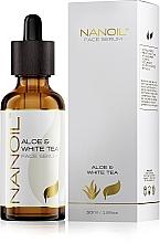 Fragrances, Perfumes, Cosmetics White Tea Face Serum for All Types of Skin - Nanoil Aloe & White Tea Face Serum