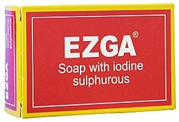 Fragrances, Perfumes, Cosmetics Natural Gray Soap - Ezga Soap with Iodine Sulpfurous