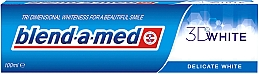 """Fragrances, Perfumes, Cosmetics Toothpaste """"Delicate White"""" - Blend-a-med 3D White Delicate White"""