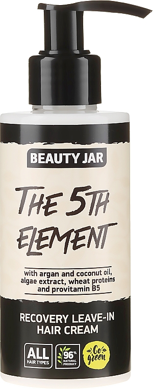"""Recovery Leave-In Hair Cream """"The 5th Element"""" - Beauty Jar Recovery Leave-In Hair Cream"""
