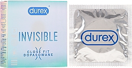 Fragrances, Perfumes, Cosmetics Condoms, 3 pcs - Durex Invisible Close Fit
