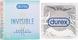 Fragrances, Perfumes, Cosmetics Condoms, 3 pcs - Durex Invisible Close Fit