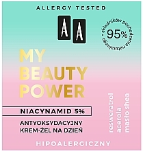 Antioxidant Day Face Cream-Gel - AA My Beauty Power Niacynamid 5% Antioxidant Day Cream-Gel — photo N3