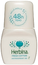 "Fragrances, Perfumes, Cosmetics Roll-on Deodorant ""Freshness"" - Berner Herbina Fresh Cotton"