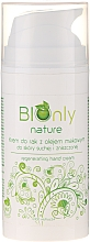 Fragrances, Perfumes, Cosmetics Regenerating Hand Cream with Poppy Seed Oil - BIOnly Nature Regenerating Hand Cream