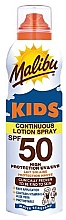 Fragrances, Perfumes, Cosmetics Sunscreen Waterproof Kids Lotion - Malibu Sun Kids Continuous Lotion Spray SPF50