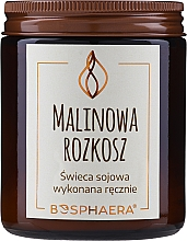 """Fragrances, Perfumes, Cosmetics Scented Soy Candle """"Raspberry Delight"""" - Bosphaera Raspberry Delight Candle"""