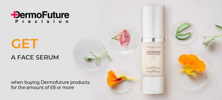 Buy Dermofuture products for the amount of £8 or more and get a free Face Serum