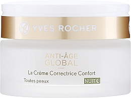 Fragrances, Perfumes, Cosmetics Anti-Age Night Comfort Cream - Yves Rocher Anti-Age Global Night Cream Comfort