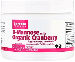 Fragrances, Perfumes, Cosmetics Dietary Supplement - Jarrow Formulas D-Mannose with Organic Cranberry