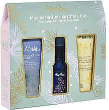 Fragrances, Perfumes, Cosmetics Set - Melvita (sh/gel/30ml + water/28ml + gei/oil/30ml)