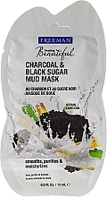 "Fragrances, Perfumes, Cosmetics Mud Face Mask ""Charcoal and Black Sugar"" - Freeman Feeling Beautiful Charcoal & Black Sugar Mud Mask (mini size)"