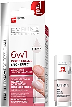Fragrances, Perfumes, Cosmetics Strengthening Nail Polish 6 in 1 - Eveline Cosmetics Nail Therapy Professional
