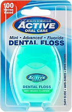 Fragrances, Perfumes, Cosmetics Mint & Fluorine Dental Floss - Beauty Formulas Active Oral Care Dental Floss Mint Waxed + Fluor 100m