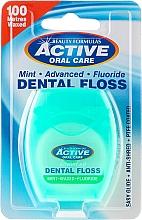 Fragrances, Perfumes, Cosmetics Mint & Fluorine Dental Floss - Beauty Formulas Active Oral Care Dental Floss Mint Waxed + Fluor 100m