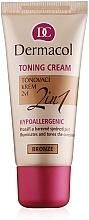 Fragrances, Perfumes, Cosmetics Moisturizing Toning Cream 2 in 1 - Dermacol Make-Up Toning Cream