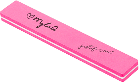 Nail Buffer, 100/180, pink - MylaQ — photo N1