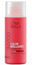 Fragrances, Perfumes, Cosmetics Color Protective Shampoo for Coarse Hair - Wella Professionals Invigo Color Brillance Shampoo