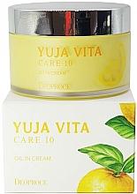 Fragrances, Perfumes, Cosmetics Rejuvenating Citrus Face Cream - Deoproce Yuja Vita Care 10 Oil in Cream