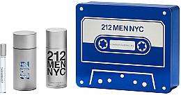 Fragrances, Perfumes, Cosmetics Carolina Herrera 212 Men NYC - Set (edt/100ml + deo/150ml + edt/10ml)