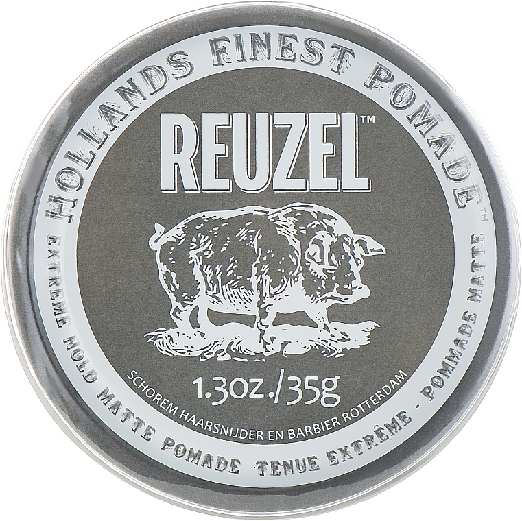 Ultra Strong Hold Hair Styling Clay - Reuzel Clay Matte Pomade Extreme Hold