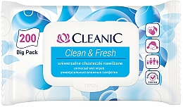 Fragrances, Perfumes, Cosmetics Refreshing Wet Wipes - Cleanic Clean & Fresh