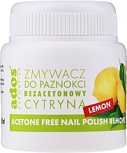 Fragrances, Perfumes, Cosmetics Acetone-Free Lemon Nail Polish Remover with Sponge - Ados Free Nail Polish Remover