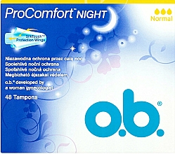 Fragrances, Perfumes, Cosmetics Tampons, 48 pcs - O.b. ProComfort Night Normal