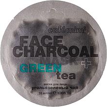 "Fragrances, Perfumes, Cosmetics Face Mask ""Charcoal & Green Tea"" - Cafe Mimi Charkoal & Green Tee Face Mask"