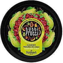 "Fragrances, Perfumes, Cosmetics Sugar Body Peeling ""Pear and Cranberry"" - Farmona Tutti Frutti Sugar Scrub"