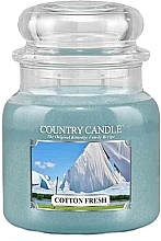 Fragrances, Perfumes, Cosmetics Scented Candle in Jar - Country Candle Cotton Fresh