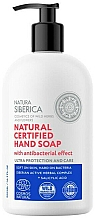 "Fragrances, Perfumes, Cosmetics Antibacterial Hand Soap ""Ultra Protection & Care"" - Natura Siberica Natural Certified Hand Soap"
