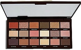 Fragrances, Perfumes, Cosmetics Eyeshadow Palette, 18 Shades - I Heart Revolution Chocolate Palette