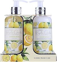 Fragrances, Perfumes, Cosmetics Set - Baylis & Harding Royale Garden Lemon & Basil (l/soap/300ml + b/lot/300ml)
