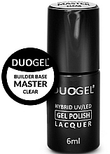 Fragrances, Perfumes, Cosmetics Hybrid Nail Base Coat - Duogel Builder Base Master Clear