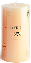 Fragrances, Perfumes, Cosmetics Scented Candle, Cream, 9x13 cm - Artman Winter Glass