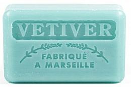 "Fragrances, Perfumes, Cosmetics Marseilles Soap ""Vetiver"" - Foufour Savonnette Marseillaise Vetiver"