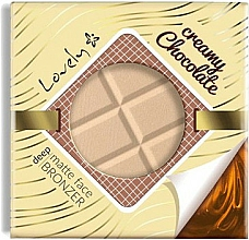 Fragrances, Perfumes, Cosmetics Face Bronzing Powder - Lovely Creamy Chocolate Deep Matte Bronze