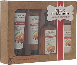 "Fragrances, Perfumes, Cosmetics Set ""Orange and Cranberry"" - Nature de Marseille (lot/150ml + sh/gel/100ml + h/cr/60ml + soap/90g)"