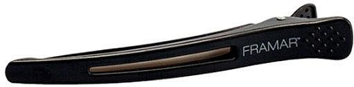 Elastic Sectioning Hair Clip, black - Framar Elastic Sectioning Hair Clips — photo N1