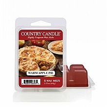 Fragrances, Perfumes, Cosmetics Scented Wax - Country Candle Warm Apple Pie Wax Melt