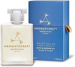 Fragrances, Perfumes, Cosmetics Relax Bath & Shower Oil - Aromatherapy Associates Light Relax Bath & Shower Oil