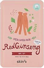 """Fragrances, Perfumes, Cosmetics Sheet Mask """"Red Ginseng"""" - Skin79 Fresh Garden Red Ginseng Mask"""