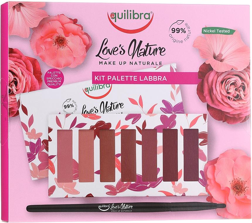 Lipstick Set with Brush - Equilibra Love's Nature Lip Palette Kit