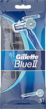 Fragrances, Perfumes, Cosmetics Disposable Shaving Razor Set, 5 pcs - Gillette Blue II Chromium