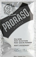 Fragrances, Perfumes, Cosmetics After Shave Powder with Mint and Rosemary - Proraso Mint & Rosemary Post Shave Powder