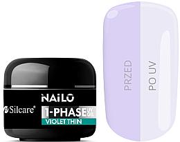 Fragrances, Perfumes, Cosmetics Nail Gel Polish - Silcare Nailo 1-Phase Gel UV Violet Thin