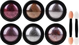 Fragrances, Perfumes, Cosmetics Nail Art Set - Deni Carte (powder/6pcs + applicator/6pcs)